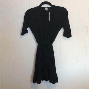 Asos frill wrap mini dress
